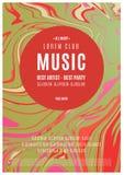 Плакат музыки абстрактный Стоковое Изображение