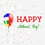 Плакат национального праздника АВТОМОБИЛЯ патриотический иллюстрация штока