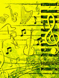 плакат нот бесплатная иллюстрация