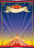 плакат ночи цирка Стоковое Изображение