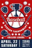 Плакат объявления спички бейсбола с чашкой трофея бесплатная иллюстрация