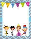 Плакат партии костюма иллюстрация штока