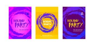 Плакат партии праздника установленный также вектор иллюстрации притяжки corel Стоковое Изображение