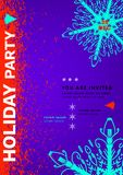 Плакат партии праздника Стоковое фото RF