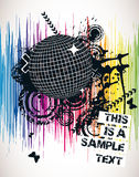плакат партии спектральный Стоковые Изображения