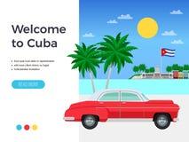 Плакат перемещения Кубы иллюстрация штока