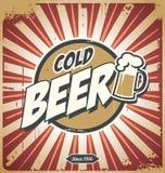 Плакат пива сбора винограда Стоковые Фотографии RF