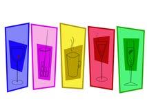плакат питья Стоковые Изображения RF