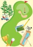 плакат приглашения гольфа Стоковое Изображение RF