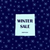Плакат продажи зимы Предпосылка снежинок Стоковые Изображения