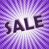 Плакат продажи искусства шипучки Стоковая Фотография RF