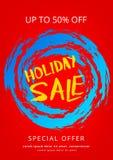 Плакат продажи праздника Стоковая Фотография