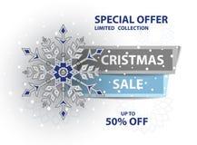 Плакат продажи рождества иллюстрация вектора