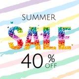 Плакат продажи с бабочкой бесплатная иллюстрация