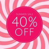 Плакат продажи с розовым Sunburst бесплатная иллюстрация