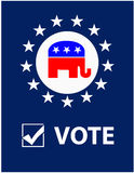 Плакат республиканца вотума бесплатная иллюстрация
