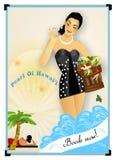 плакат ретро Стоковое Изображение RF