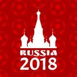 Плакат России с красной иллюстрацией вектора картины иллюстрация вектора