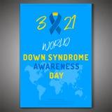 Плакат Синдрома Дауна Стоковые Фото