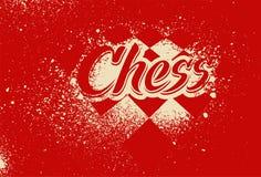 Плакат стиля grunge брызг восковки шахмат типографский винтажный вектор иллюстрации ретро бесплатная иллюстрация