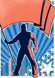 плакат флага 2 подателей Стоковое Фото