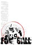 плакат футбола круга предпосылки 2 американцов Стоковая Фотография