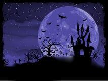 Плакат хеллоуина с предпосылкой зомби. EPS 8 Стоковое Изображение