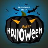 Плакат хеллоуина, хеллоуин, влияние тыквы, серая предпосылка, изображения праздника Стоковые Изображения