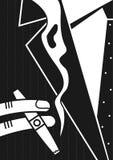 Плакат человек и сигара иллюстрация вектора