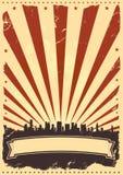 плакат четвертом -го в июле предпосылки Стоковое Фото