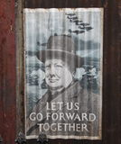 Плакат Шинстон Чюурчюилл WWII Стоковые Изображения