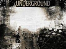 Плакат электрических гитар Стоковая Фотография RF