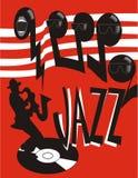 плакат джаза Стоковая Фотография