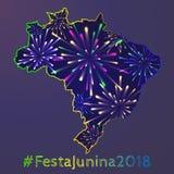 Плакат junina Festa стоковые фотографии rf