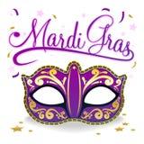 плакат mardi gras Стоковое Изображение