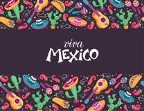 Плакат Viva Мексики иллюстрация штока