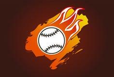 пламена бейсбола Стоковое Изображение RF