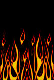 пламена велосипедиста Стоковые Фото