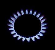 Пламена газового кольца Стоковые Изображения
