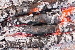 пламена золы Стоковые Изображения