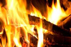 пламена костра Стоковые Фото