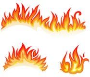 пламена пожара коллажа иллюстрация вектора