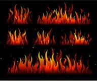 пламена пожара конструкции Стоковое Изображение