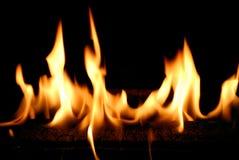 пламена пожара Стоковое Изображение