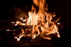 пламена пожара Стоковые Изображения RF