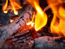 пламена embers Стоковая Фотография RF