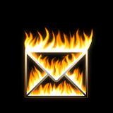 пламенеющая почта Стоковые Фотографии RF