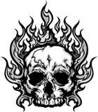 Пламенеющее изображение графика черепа Стоковые Изображения