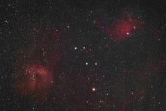 Пламенеющее межзвёздное облако звезды стоковое изображение rf