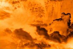 пламенеющее небо Стоковое Изображение